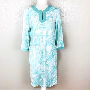 J, McLaughlin Abstract Print Sheath Dress Medium